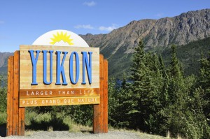 Yukon Territory, Canada Welcome Sign
