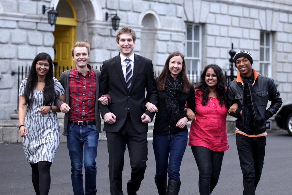 Student lawyers from around the world arrived at the Law Society of Ireland today Thursday 19th April for the opening of the Brown-Mosten International Client Consultation Competition, a four-day event to promote greater knowledge and interest among law students in the preventative law and counselling functions of law practice. Over 22 teams from around the World are taking part in the competition. Pictured during the competition were Medha Vikram from India, Philipp Gnatzy from Germany, Smu Honkanen from Finland, Audrey Johnson from USA, Megha Janakiraman from India and Azubuike Seih from Nigeria. Picture Jason Clarke Photography. No Repro Fee.