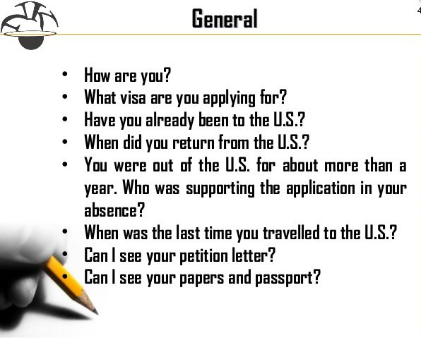 Common Visa Intervieew Questions  Common Interview Questions