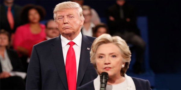 Donald Trump and Hillary Clinton talk about immigration in the final debate