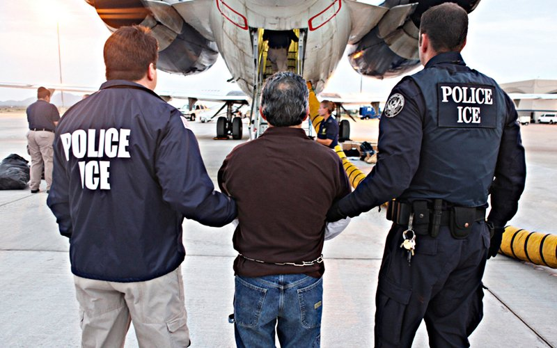 ICE agents searching for undocumented immigrants in USA