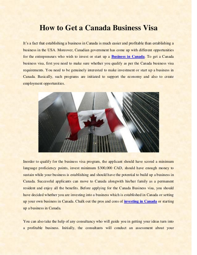 Rules regarding business visit visa for Canada Explained