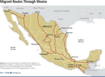 Some of the illegal routes of immigrating to USA being used by ...