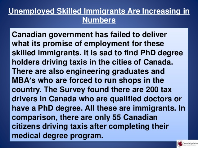 Why there is underemployment among Immigrants in Canada- What is Canadian Government doing about it?