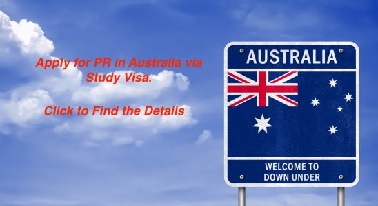 Apply for PR in Australia via Study Visa