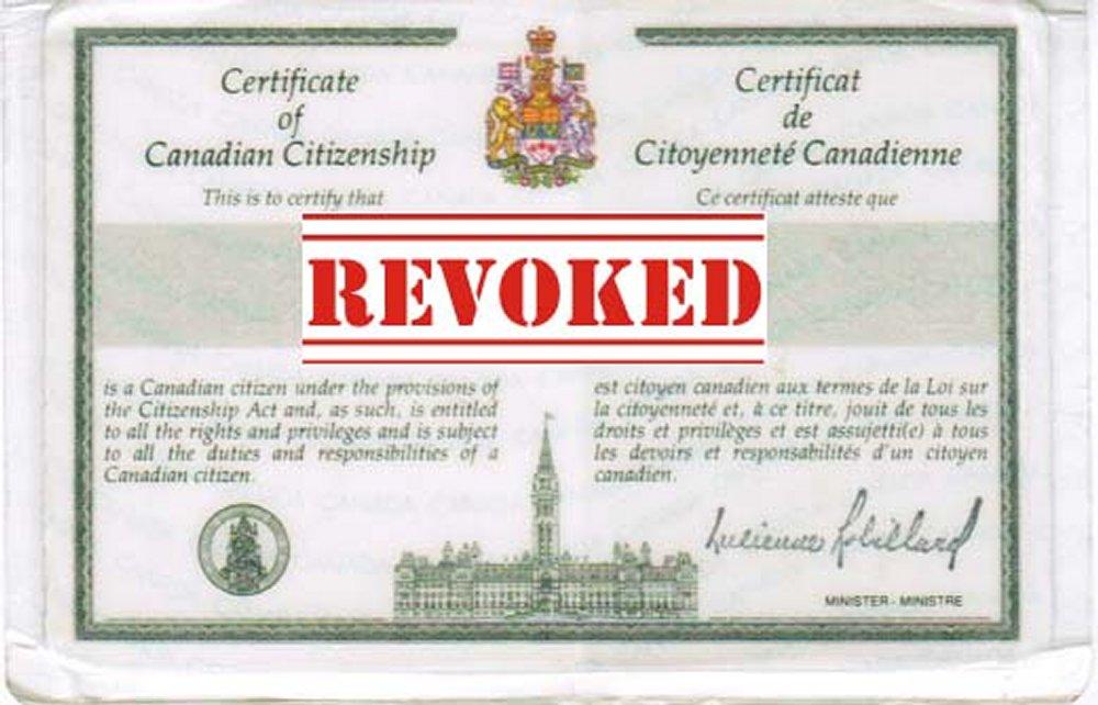 Revocation of Canadian Citizenship