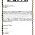 Format for getting or sending Invite to help apply for Canadian Visitor or Business Visa