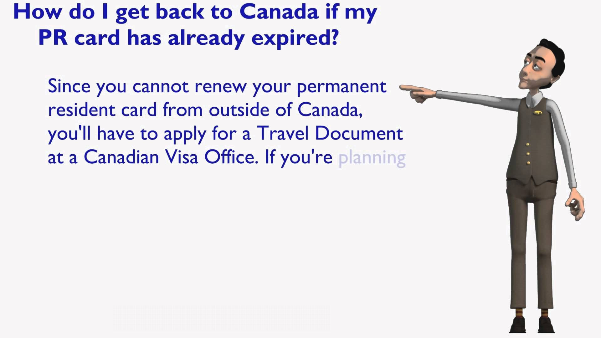 What to do if the Permanent Resident Card issued for Canadian Immigration gets expired