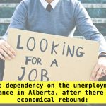 Less dependency on the unemployment allowance in Alberta, after there is an economical rebound