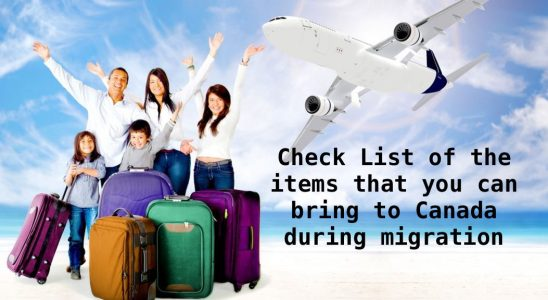 Information Regarding Duty on the Goods that You Bring to Canada during Migration