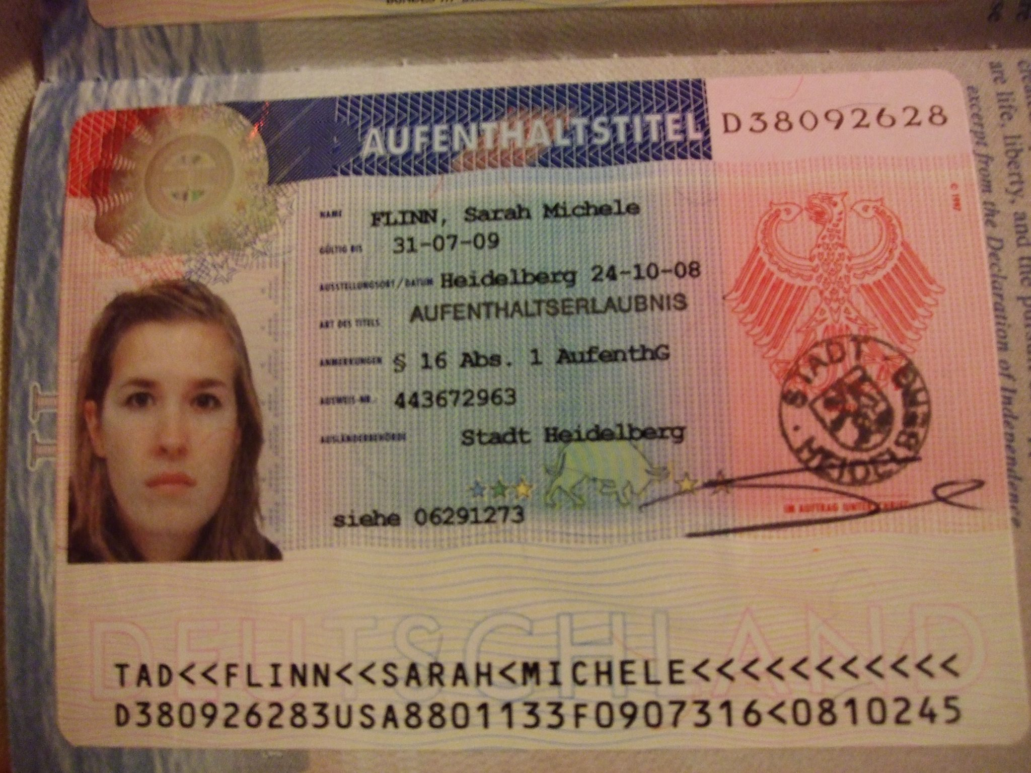 Application for Limited Period Residence Permit in Germany