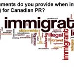 What documents do you provide when invited to apply (ITA) for Canadian PR?