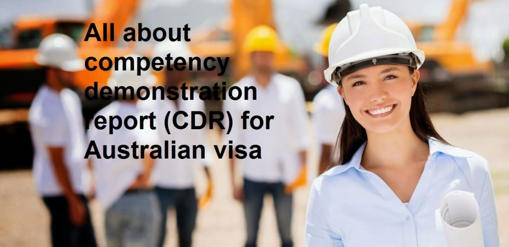 All about competency demonstration report (CDR) for Australian visa