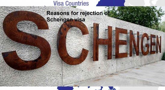 Reasons for rejection of Schengen visa