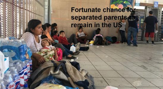 Fortunate chance for separated parents to remain in the US