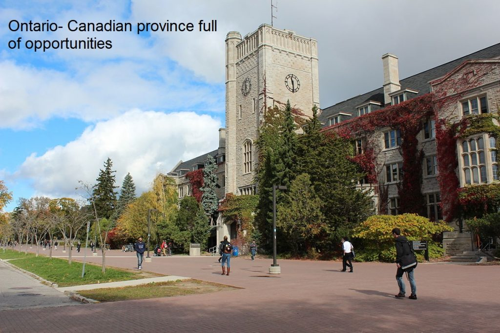 Ontario- Canadian province full of opportunities