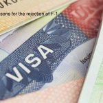 Reasons for the rejection of F-1 visa