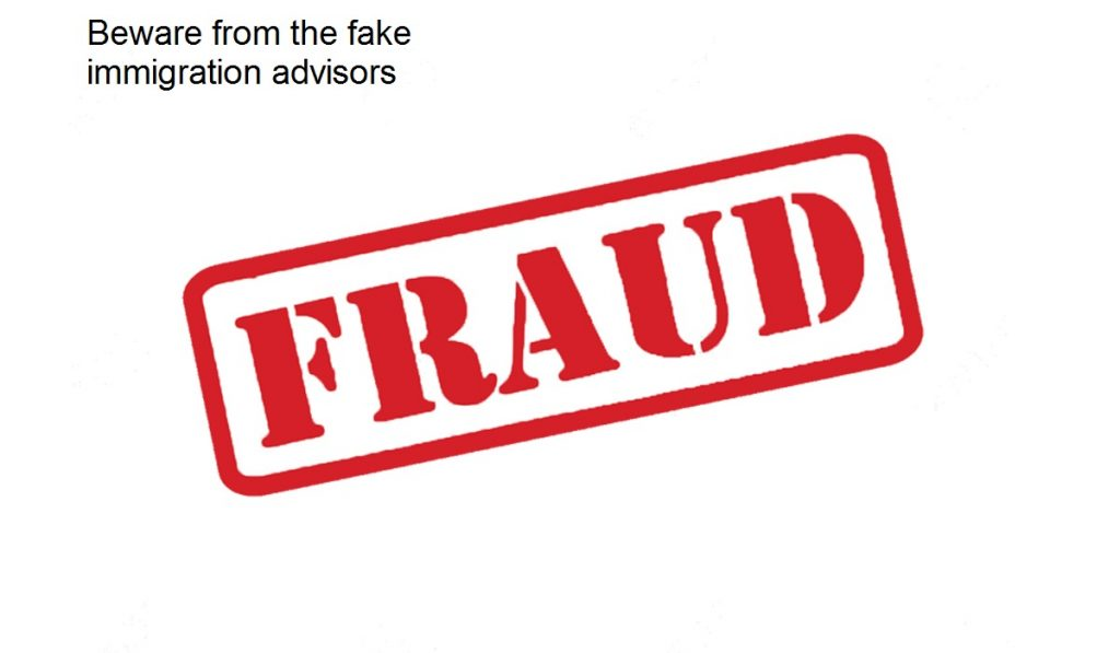 Beware from the fake immigration advisors