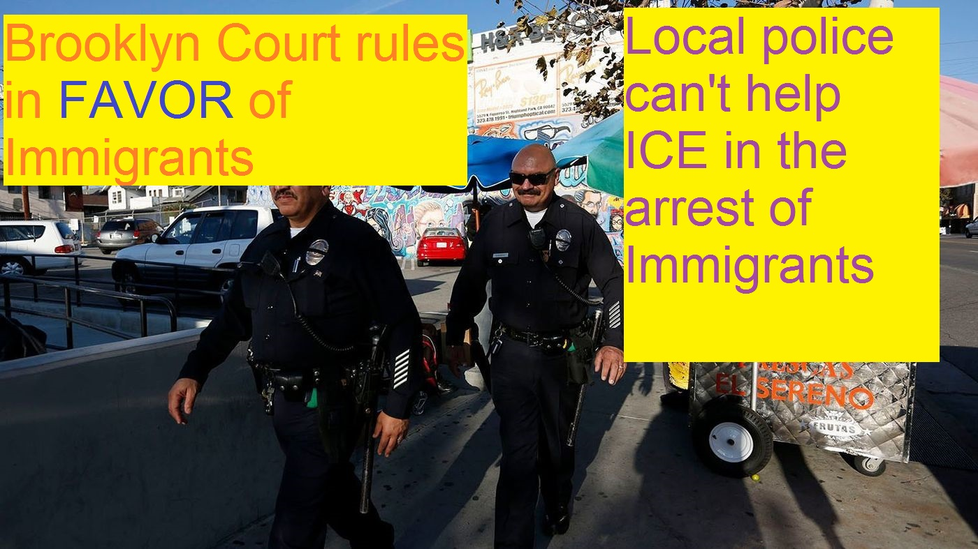 It is not under Local Police command to detain immigrants