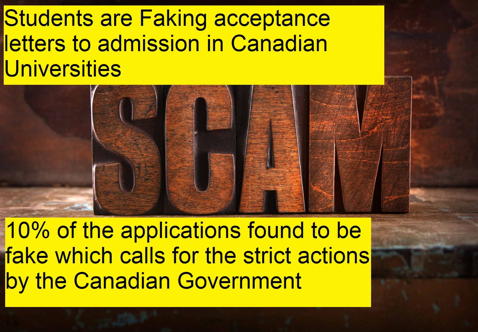 Study visa application found fake in Canada