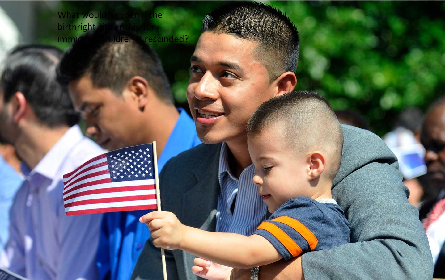 What would happen if the birthright citizenship for immigrant children is rescinded?