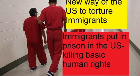 Immigrants put in prison in the US-killing basic human rights