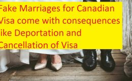 Fake Marriages for Canadian Visa come with consequences
