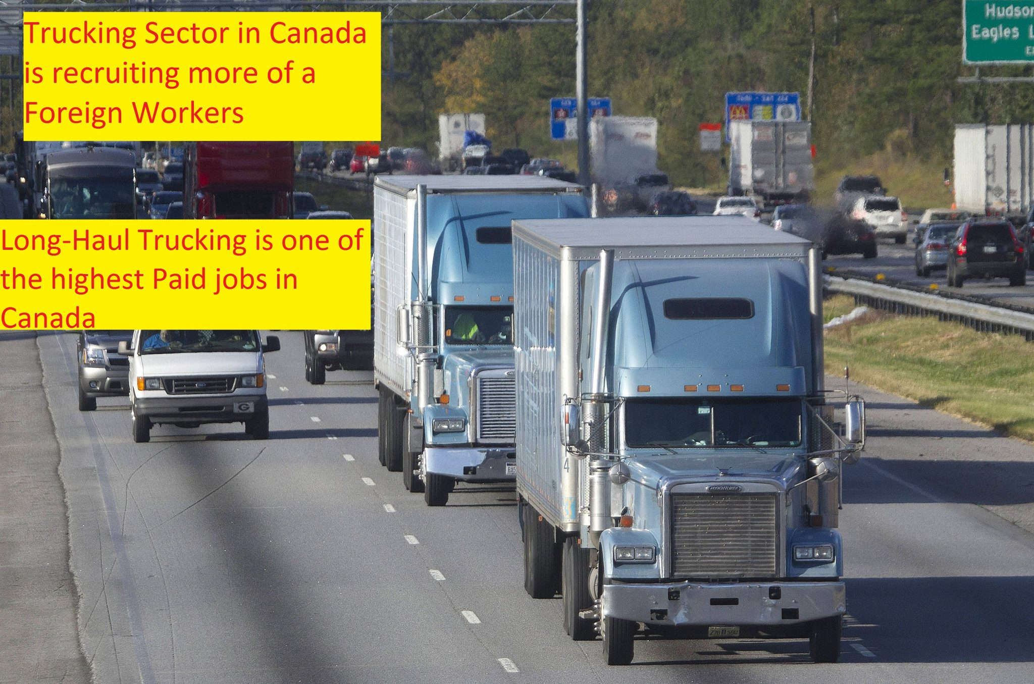 Increased Demand for Foreign Workers by Ontario Trucking Association