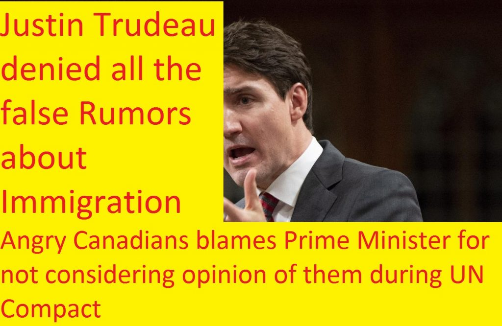 Justin Trudeau gives Warning about Fear-Mongering about Immigration