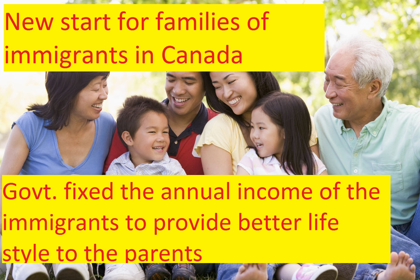 New start for families of immigrants in Canada