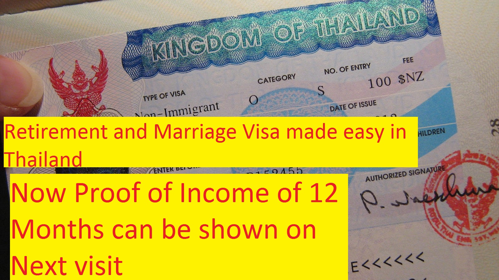 Retirement and Marriage Visa made easy in Thailand