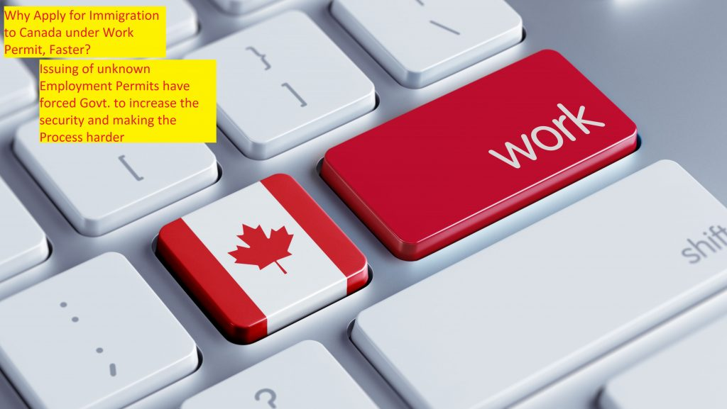 Why Apply for Immigration to Canada under Work Permit, Faster?