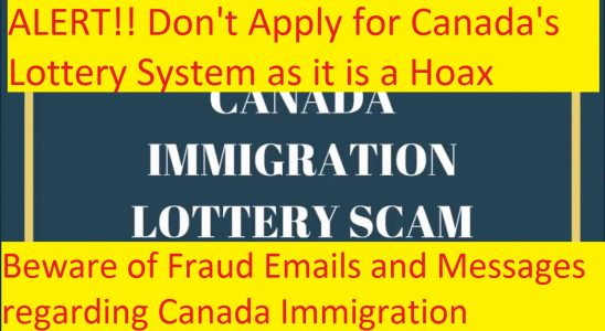 Canada's Lottery System is a Hoax