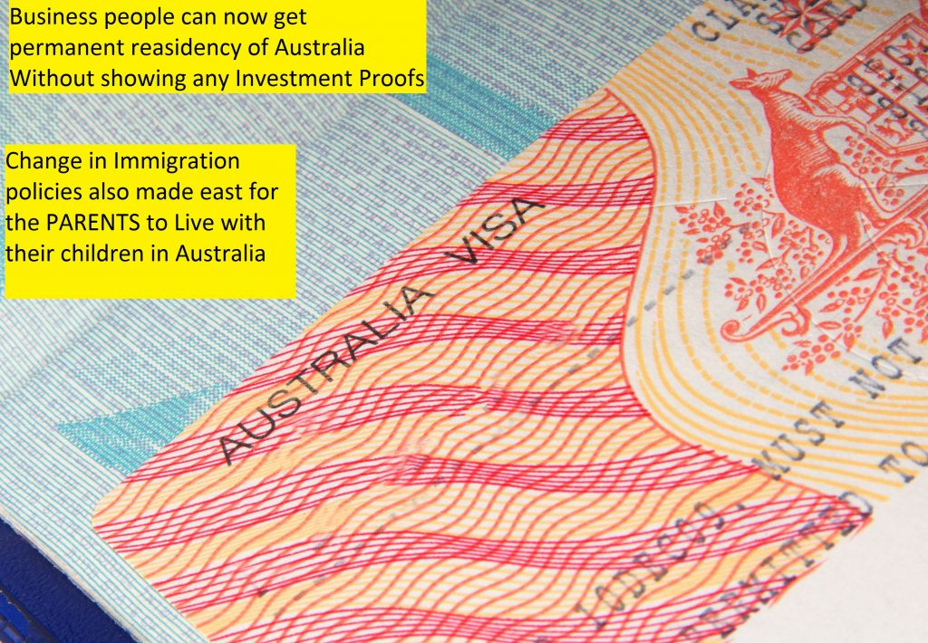 Changes in Immigration Policies by Australian Govt.