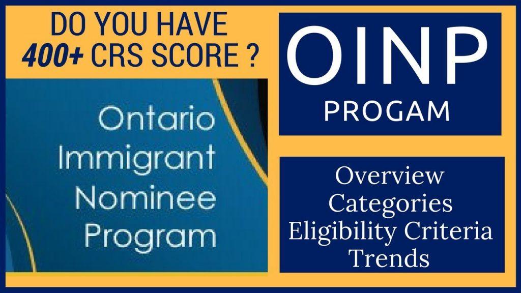Ontario Immigrant Nominee Program details