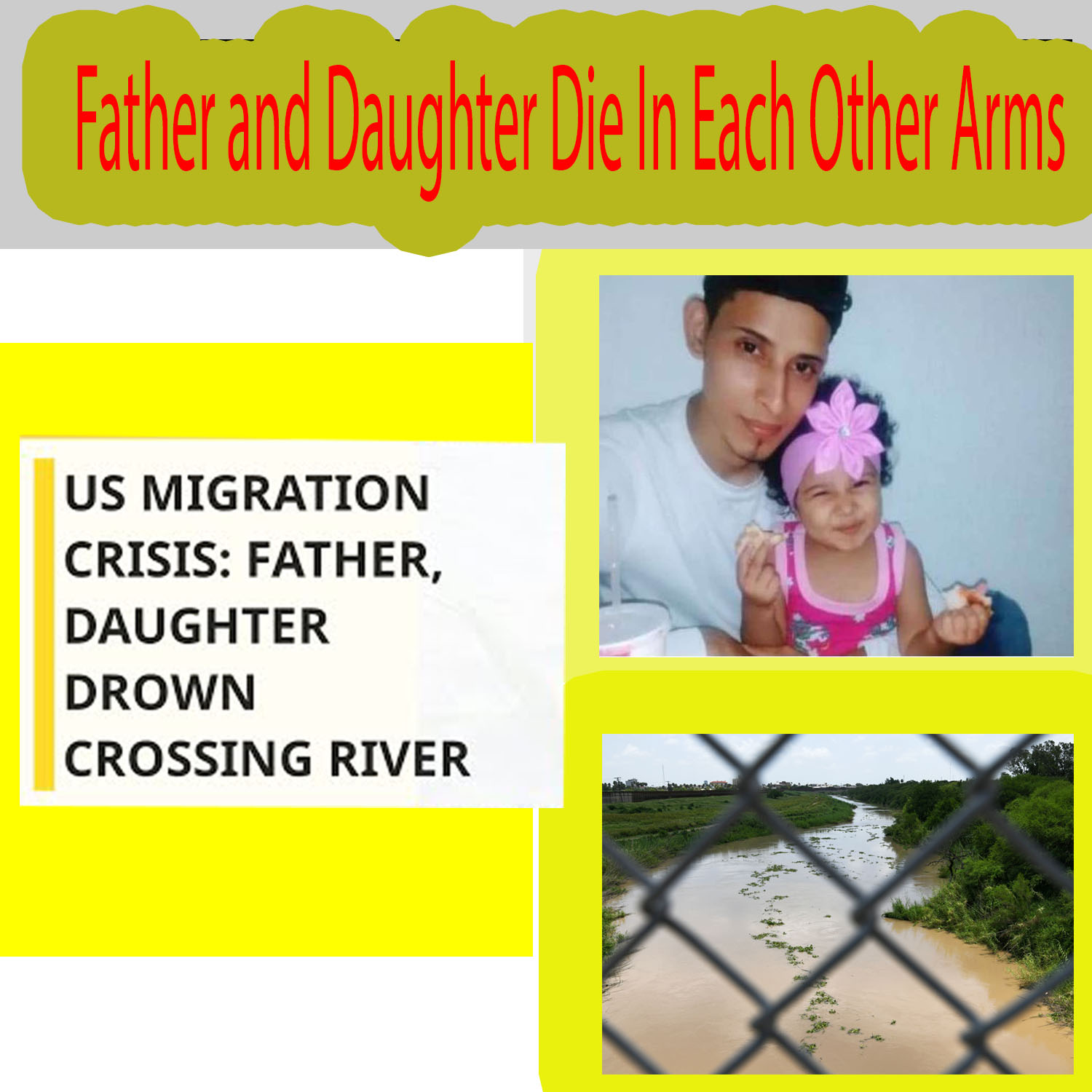photograph of a drowned father and daughter migrants