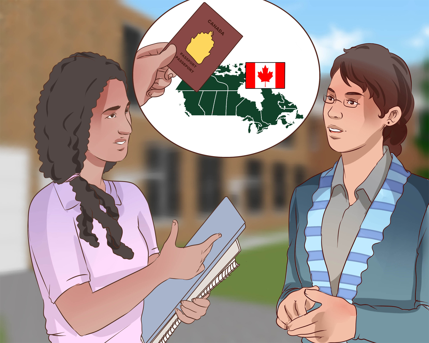 Canada to get the permanent residence for the foreign spouse