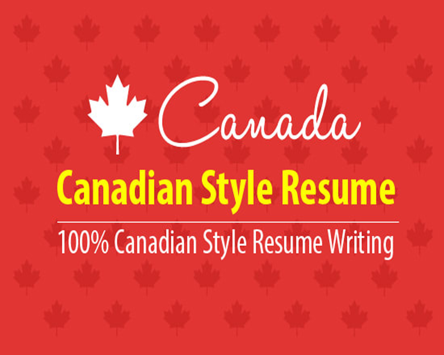 Canadian Style Resume Writing