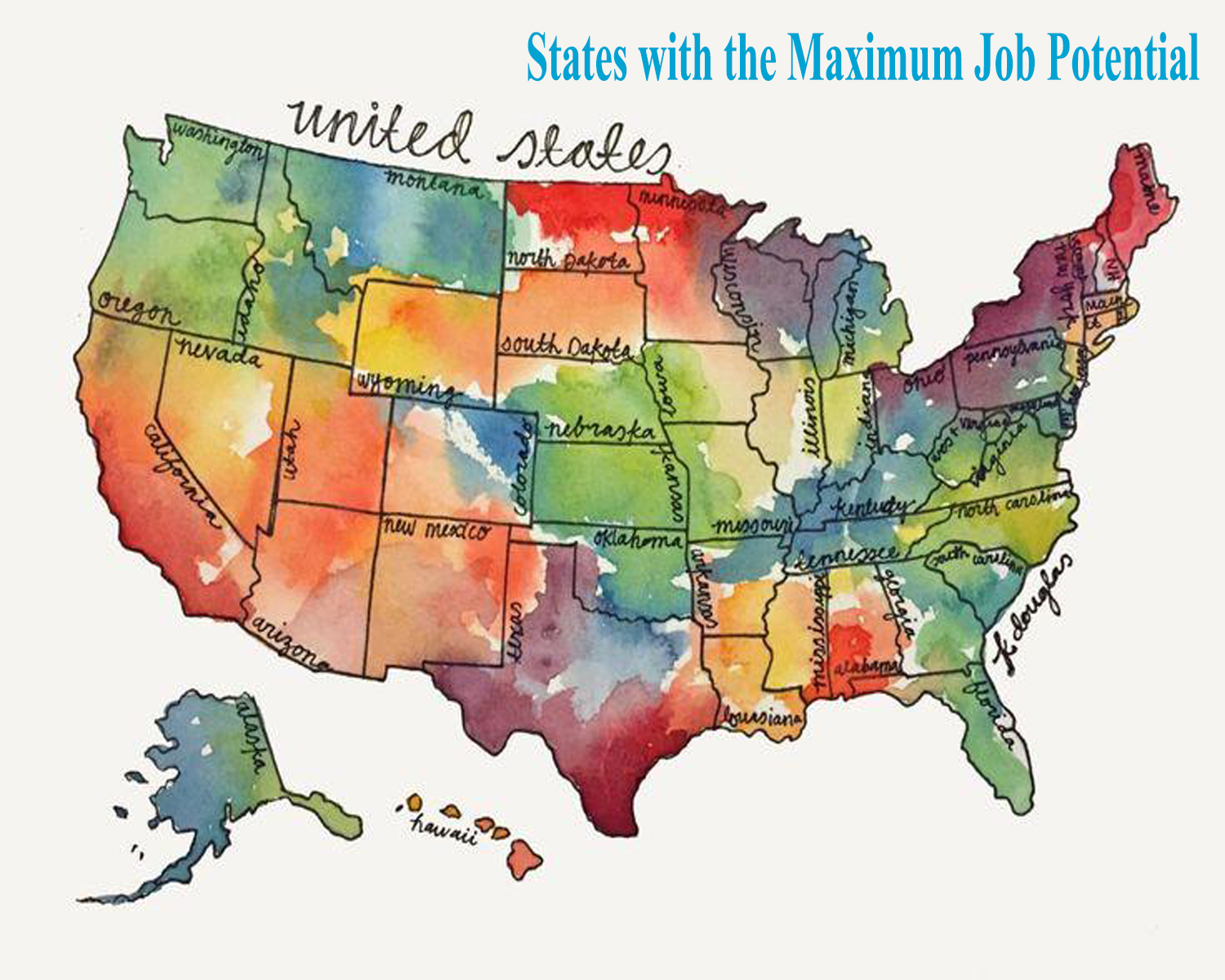 best states in the U.S with the maximum job potential