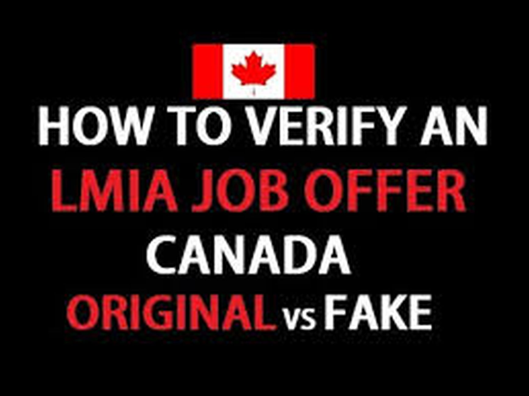 Verify the Authenticity of the LMIA