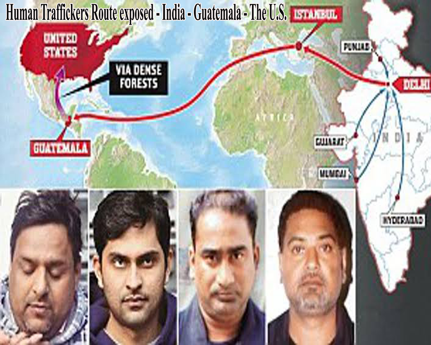 Human Traffickers Route exposed - India - Guatemala - The U.S.