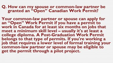 How a Student Can Apply for a Work Permit for Spouse?