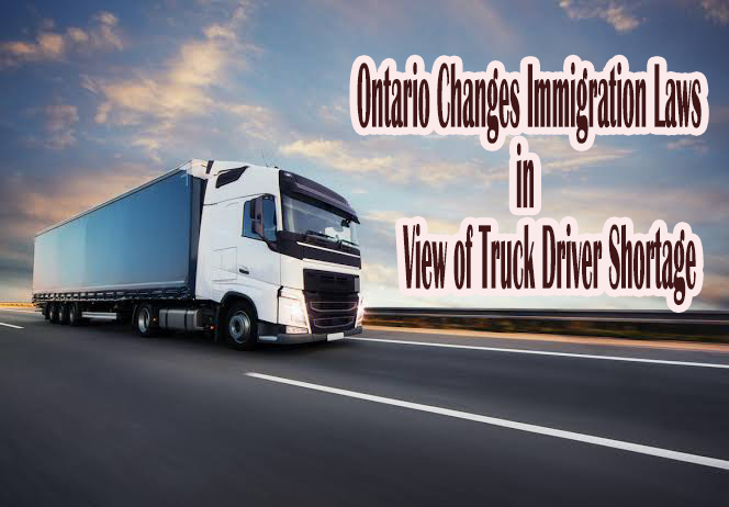 Ontario Changes Immigration Laws in View of Truck Driver Shortage