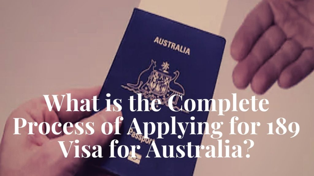 Process for 189 Visa for Australia 1