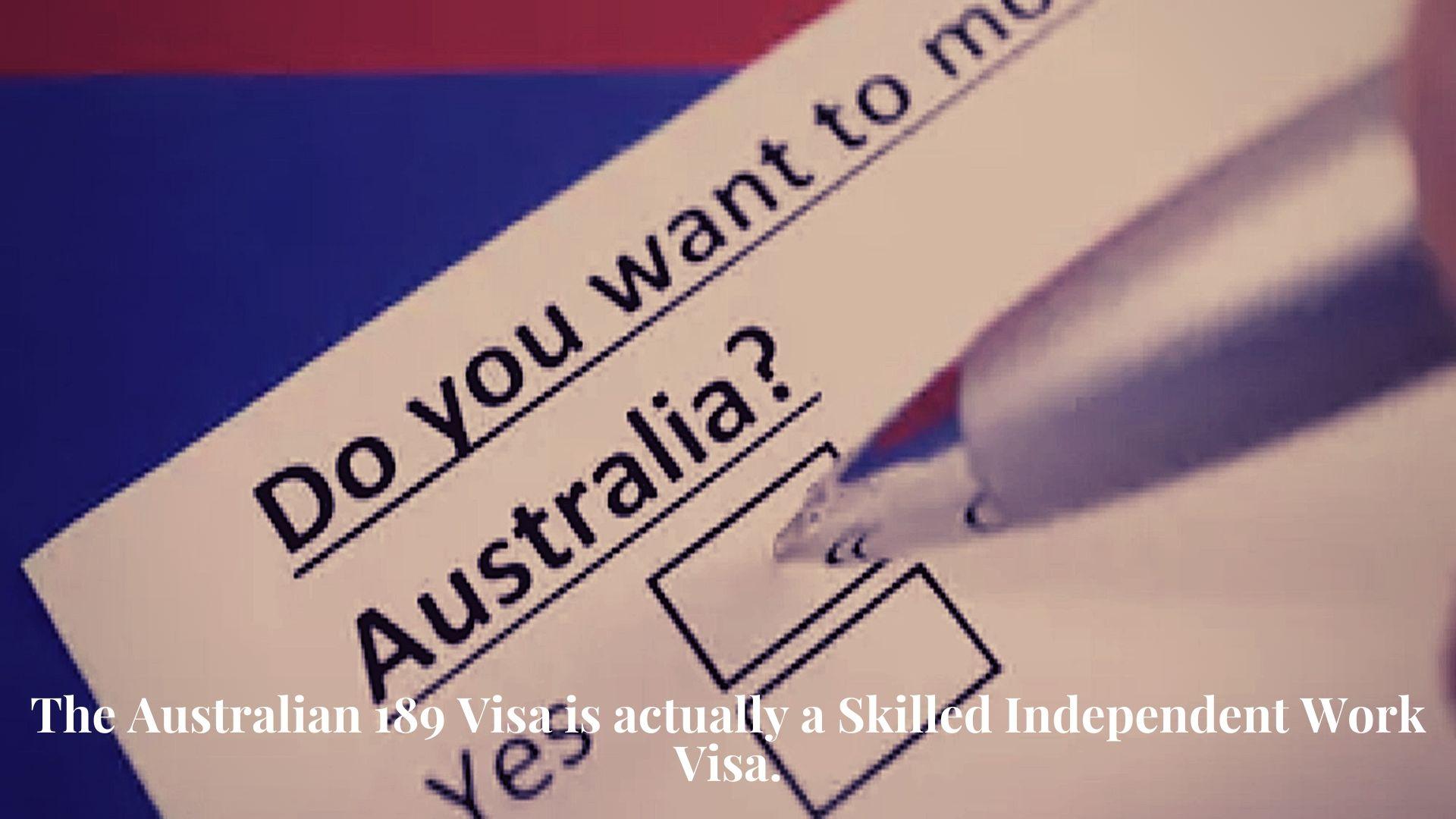 Process for 189 Visa for Australia 4