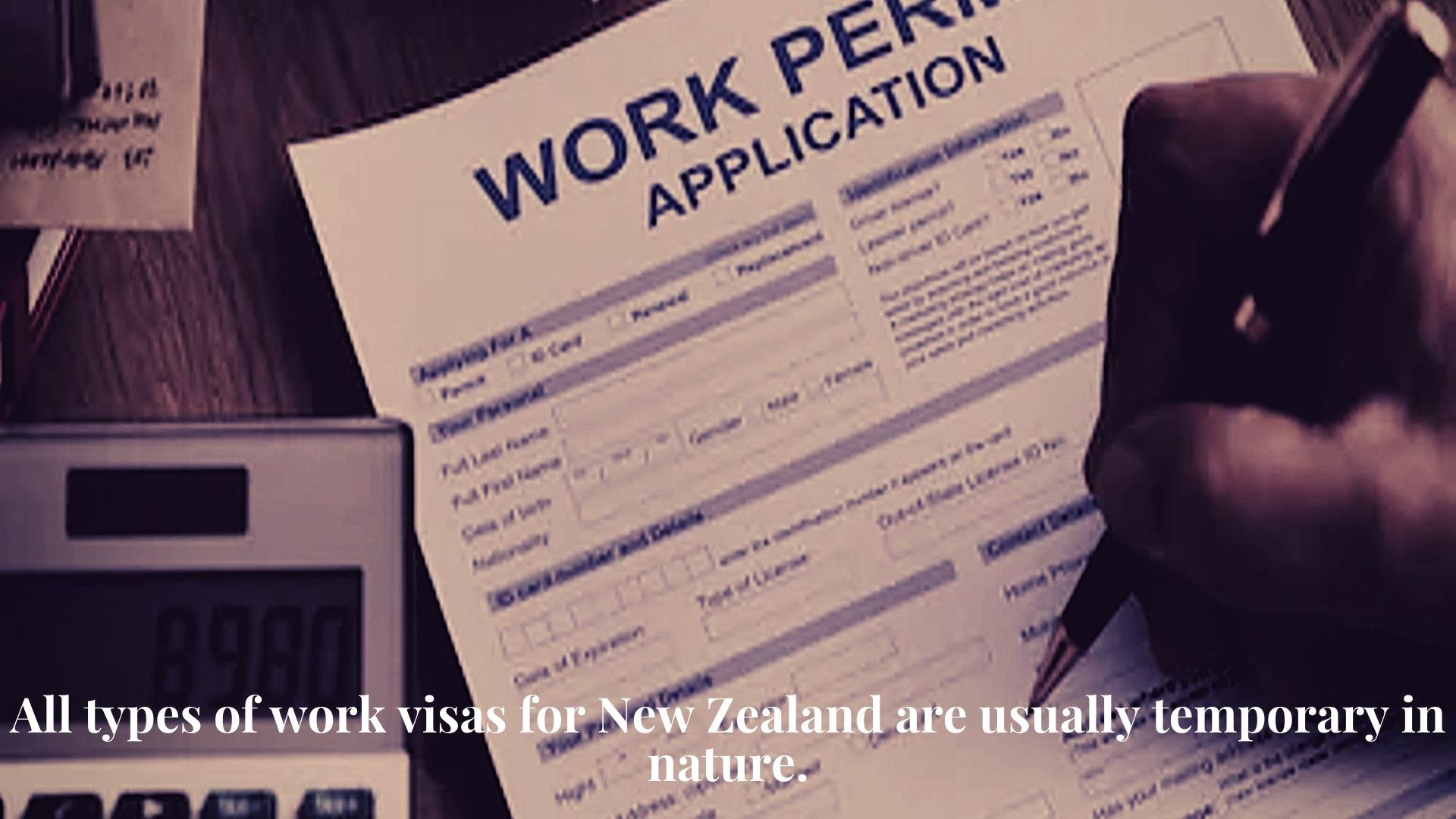 Work Permit for New Zealand 2