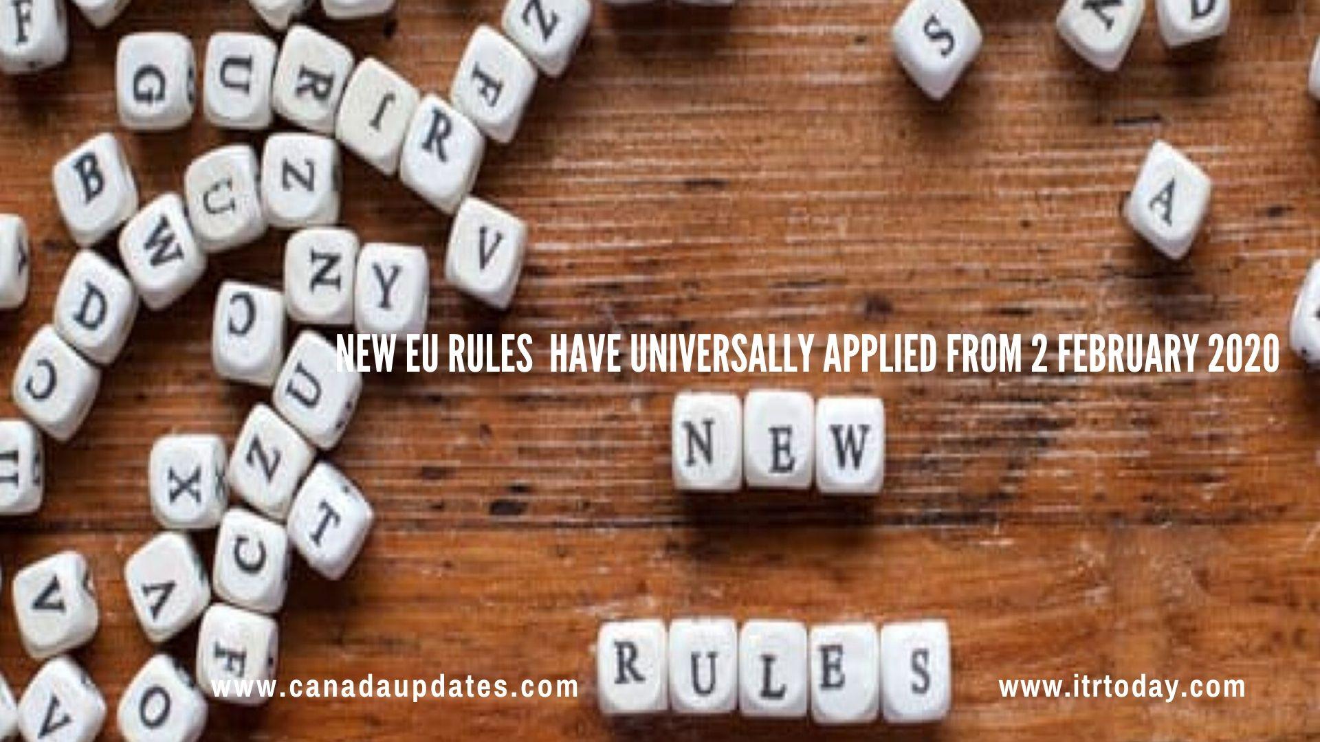 New European Union (EU) rules 3