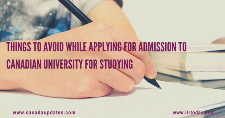 Applying for Admission to Canadian University for Studying1