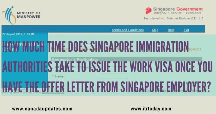 Singapore work visa 1
