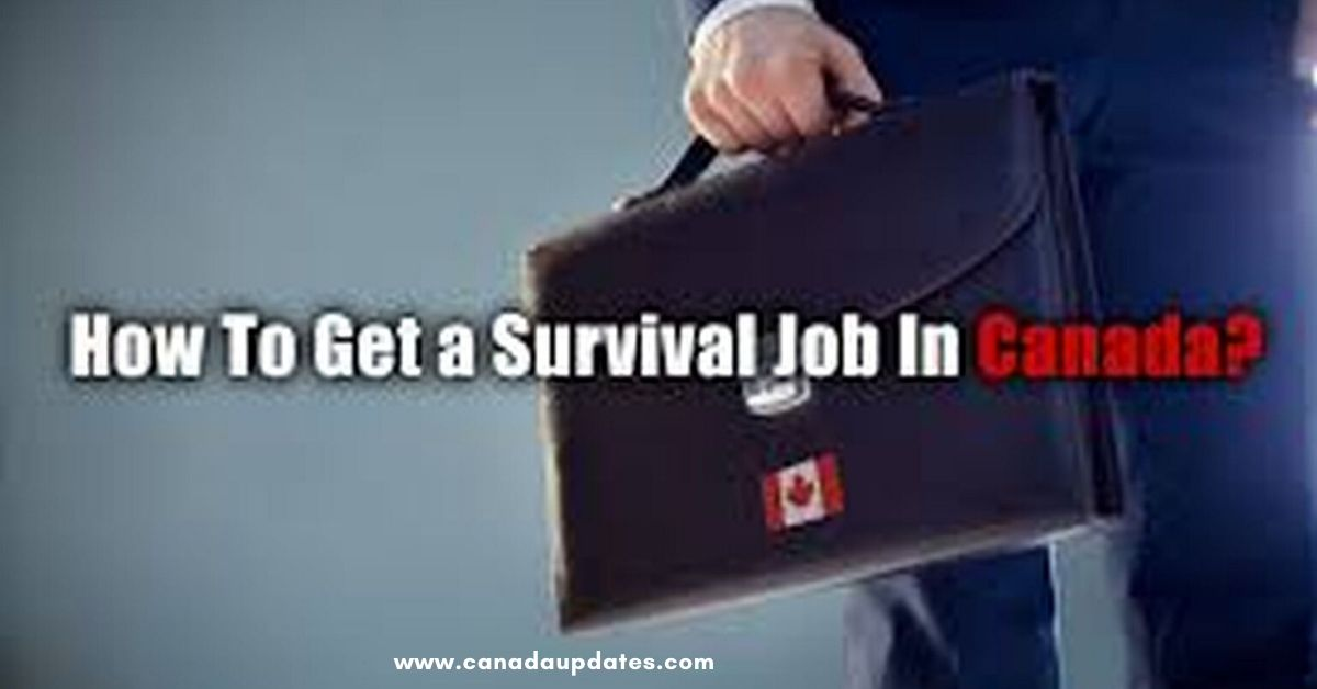 Initial Survival Jobs in Canada 2